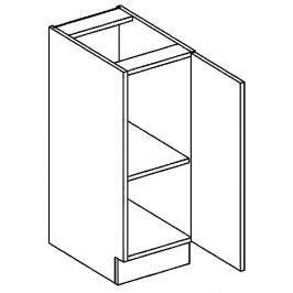 Dolní skříňka 30 cm s pravým otevíráním v elegantní mocca matné šedé barvě typ D30 KN394