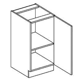 Dolní skříňka 40 cm s pravým otevíráním v elegantní mocca matné šedé barvě typ D40 KN394
