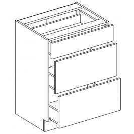 Dolní skříňka 60 cm se zásuvkami v elegantní mocca matné šedé barvě typ D60S3 KN394