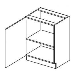 Dolní skříňka 60 cm s levým otevíráním v elegantní mocca matné šedé barvě typ D60 KN394