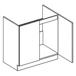 Dolní skříňka pod dřez 80 cm v elegantní mocca matné šedé barvě D80ZL KN394