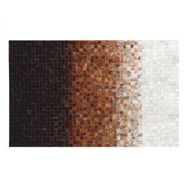 Luxusní koberec, kůže, typ patchworku, 200x300 cm, KOBEREC KOŽA typ7