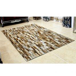 Luxusní koberec, kůže, typ patchworku, 120x180 cm, KOBEREC KOŽA typ5