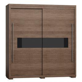 Moderní šatní skříň s posuvnými dveřmi s možností výběru barvy typ V 40 KN300
