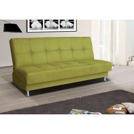 Rozkládací pohovka s úložným prostorem v zelené barvě typ 3 F1303