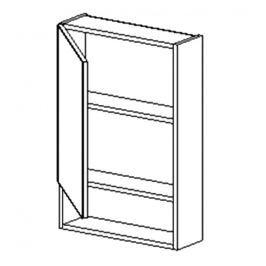 Horní skříňka se zrcadlem do koupelny 50 cm v levém provedení ořech W50PD KN484