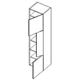 Dolní skříňka do koupelny v pravém provedení 40 cm dub sonoma a černý lesk KN486