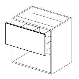 Dolní skříňka pod umyvadlo 60 cm dub sonoma a bílý lesk DUM60S/1 KN486