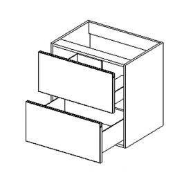 Dolní skříňka pod umyvadlo 60 cm dub lefkas s možností výběru barvy KN483