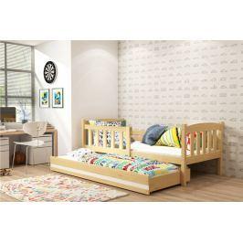 Dětská postel v dekoru borovice s přistýlkou F1176