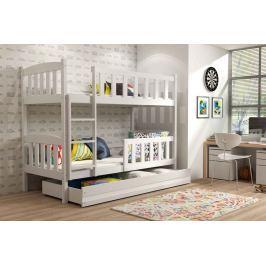 Dětská patrová postel v bílé barvě 90x200 F1176