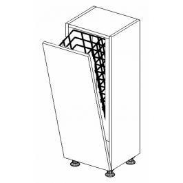 Dolní skříňka do koupelny s prádelním košem 30 cm bílý lesk D30 KN489