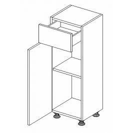 Dolní skříňka do koupelny v levém provedení 30 cm bílý lesk D30S1 KN489