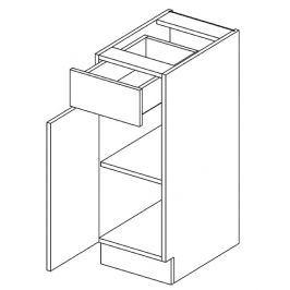 Dolní skříňka levá 30 cm se zásuvkou dub picard a bílý lesk D30S1 KN411