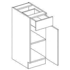 Dolní skříňka pravá 30 cm se zásuvkou dub picard a bílý lesk D30S1 KN411
