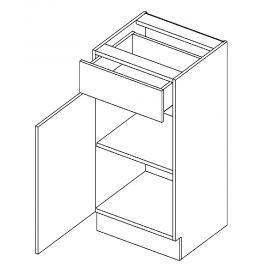 Dolní skříňka levá 40 cm se zásuvkou akácie a vanilka lesk D40S1 KN411