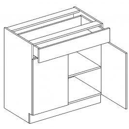 Dolní skříňka 80 cm se zásuvkou akácie a vanilka lesk D80S1 KN411