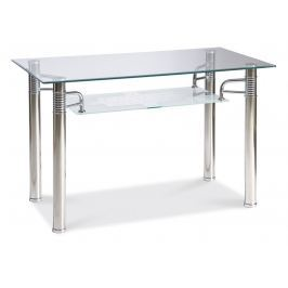 Jídelní stůl 100x70 cm z průhledného skla KN564