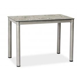 Jídelní stůl 80x60 cm v šedé barvě KN553