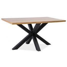 Stylový jídelní stůl 180x90 cm z přírodní dýhy v barvě dub KN526