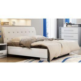 Manželská postel 160x200 cm v bílé barvě KN545