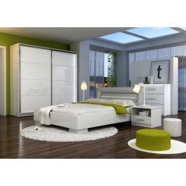 Ložnicový set v bílé barvě KN548