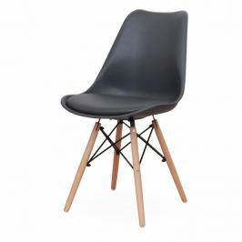Jídelní židle v tmavě šedá barvě a dekoru buk TK2047