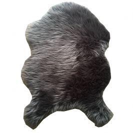 Koberec, umělá kožešina, šedá, 60x90, EBONY TYP 5