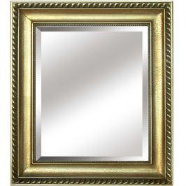 Zrcadlo ve zlatém provedení s dřevěným rámem TYP 10 TK2200