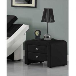Noční stolek 50x37cm v černé ekokůži TK3055
