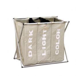 Látkový koš na prádlo šedobéžové barvy LAUNDRY TYP 3 TK2012