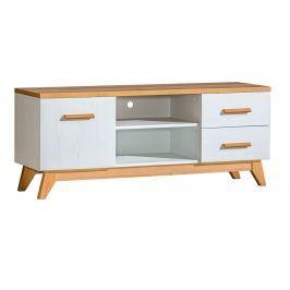 Televizní stolek v dekoru dub nash v kombinaci s borovice andersen typ SV5 KN606