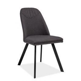 Jídelní čalouněná židle s čalouněním v šedé látce KN649