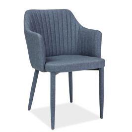 Jídelní čalouněná židle v barvě grafit KN676