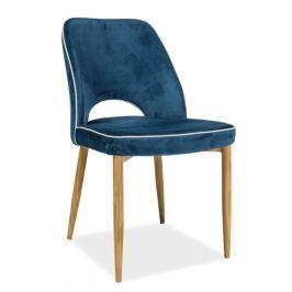 Jídelní čalouněná židle v modré barvě KN680