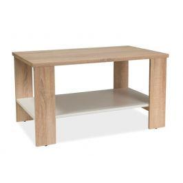 Konferenční stolek 90 cm v dekoru dub sonoma s bílou policí KN743