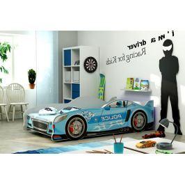 Postel ve stylu závodního auta v modré barvě F1285