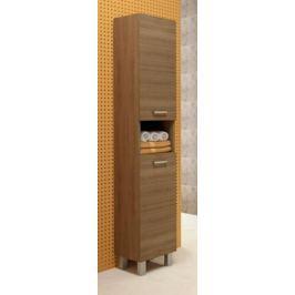 Vysoká koupelnová skříňka z lamina v dekoru dub rijeka 30 cm F1297