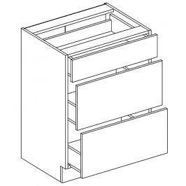 D60/S3 dolní skříňka se zásuvkami bílý mat KN394
