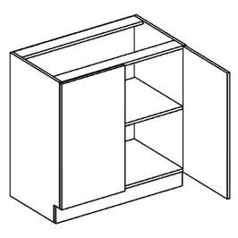 D80 dolní skříňka 2-dveřová bílý mat KN394