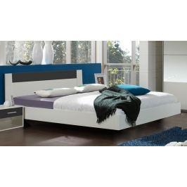 Postel 140x200 cm v bílé barvě v kombinaci se šedou barvou typ 351 KN815