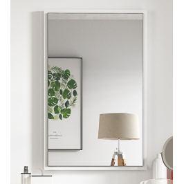 Zrcadlo na stěnu 54x84 cm v bílé matné barvě KN868