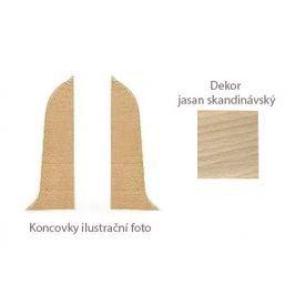 Koncovka L+P k PVC liště dekor jasan skandinávský LP55