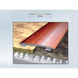 Profil podlahový hliníkový samolepící 3,8x270 cm ořech PVC folie BOHEMIA