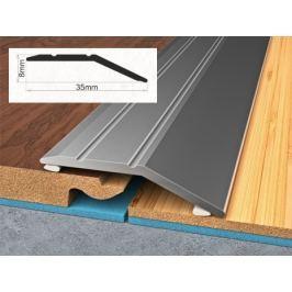 Profil vyrovnávací hliníkový samolepící 0,8x3,5x90 cm ořech PVC folie BOHEMIA