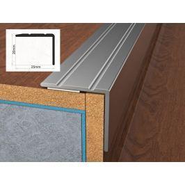 Profil schodový hliníkový samolepící 2,5x2x270 cm dub světlý PVC folie BOHEMIA