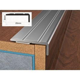 Profil schodový ukončovací samolepící 2,5x0,9x90 cm olše PVC folie BOHEMIA