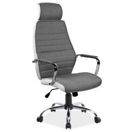 Kancelářské otočné křeslo v šedé barvě s kovovými područky KN1009