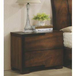 Noční stolek se zásuvkami v hnědé stínované barvě KN936