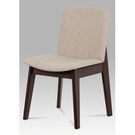 Jídelní židle v dekoru ořech potažená krémovou barvou BC-3915 WAL A011